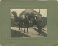 Photograph of James Allan with Horse