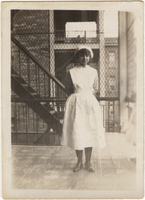 Photograph of Vivien in nurse uniform