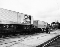 Trains locomotives and coaches only : CN