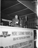 [Toronto Transit Commission] : East-West subway : Ground breaking ceremony