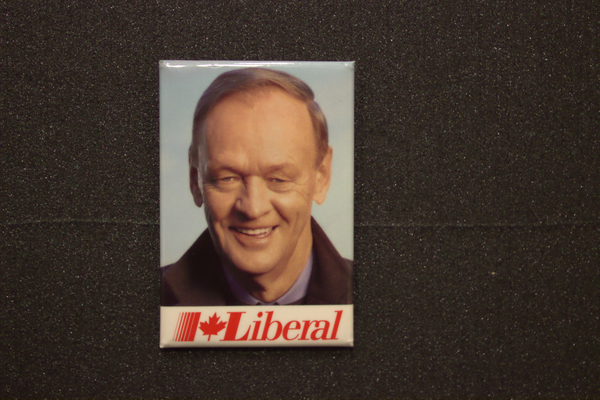 Jean Chretien with jacket button