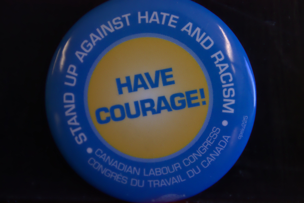 Have courage button
