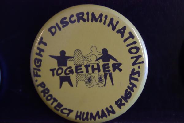 Fight discrimination button