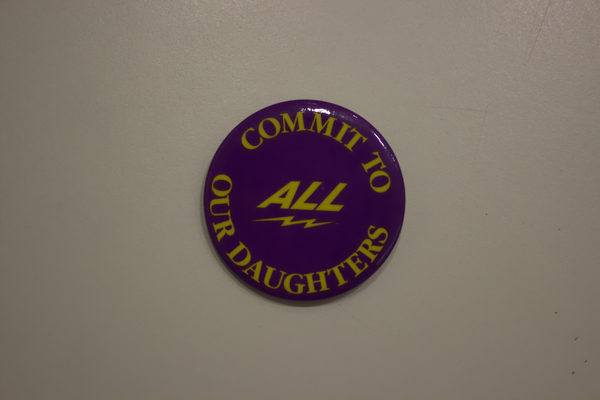 Commit to all our daughters button