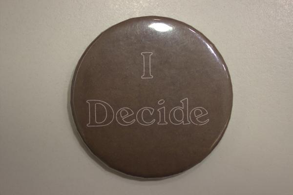 I decide button