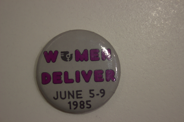 Women Deliver conference button