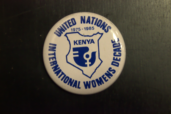 United Nations International Womens Decade button