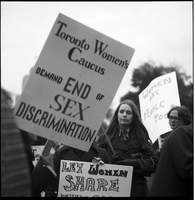 Womens liberation : Bill of rights demonstration [at] Queen's Park
