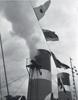 """Boat, """"Cayuga"""" : first sailing"""