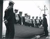 "Boats, ""Haidee"" & R.C.N.V.R. cadets in training tour"