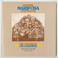 Mariposa Folk Festival 1982 program