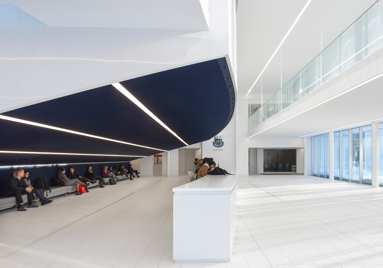 COE entrance with students in the lounge area
