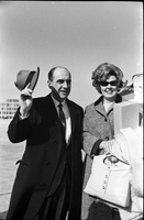 Andreas Papandreou and Margaret Papandreou shortly after arriving at Toronto International Airport.