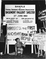 Protest march against fallout shelter.