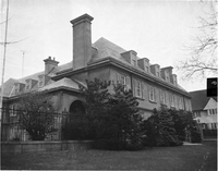 Exterior of 104 Forest Hill Road, former residence of Sigmund Samuel.
