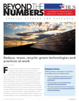 Reduce, reuse, recycle: green technologies and practices at work