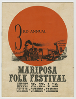 Mariposa Folk Festival 1963 program