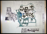 Another view of Master Plan showing actual building shapes to date, lakes and possible fourth college cluster