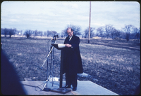 Hon. Robert H. Winters (Chairman of Board of Governors) - initial sod turning ceremony for first building - the Steacie Science Library