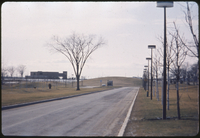 Main Keele St. entrance (now St. Lawrence Blvd.) - Burton Auditorium in background