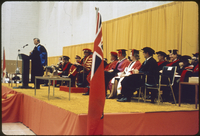 Convocation - Premier Davis - installation of the new president - Tait McKenzie