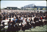 Convocation outdoors - general view. South of Vanier