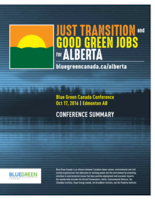 Just Transition and Good Green Jobs for Alberta: Conference Summary