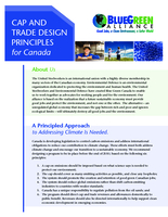 Cap and Trade design principles for Canada