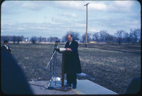 Hon. Robt. H. Winters, sod turning ceremony Steacie Science Library