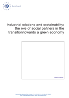 Industrial relations and sustainability: the role of social partners in the transition towards a green economy