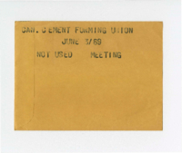 Can. Cement Forming Union : Meeting [not used]
