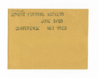 Concrete Forming Workers : Conference [not used]