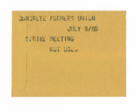 Concrete Formers Union : Strike Meeting [not used]