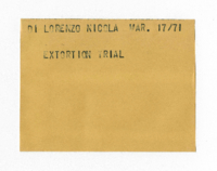 Di Lorenzo Nicola : Extortion Trial