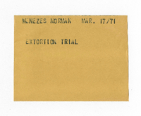 Menezes Norman : Extortion Trial