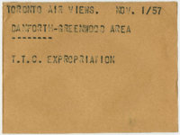 Toronto Air Views : Danforth-Greenwood Area : T.T.C. Expropriation