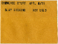 Commerce Court : Beam Signing [not used]