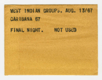 West Indian Groups: Caribana '67: Final Night [not used]