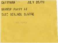 Caribana '71 : Warmup party at Ont. Science Centre