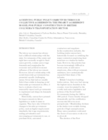 Achieving Public Policy Objectives through collective agreements: The Project Agreement Model for public construction in British