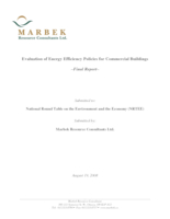 Evaluation of Energy Efficiency Policies for Commercial Buildings - Final Report