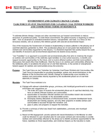 Task Force on Just Transition for Canadian Coal Power Workers and Communities: Terms of Reference