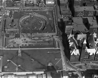 Aerial photograph of new Toronto City Hall under construction