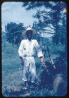 Korean farmer near Kings tombs