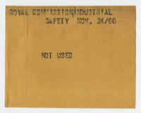 Royal Commission : Industrial Safety [not used]