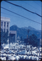 Anti-NNSC demonstration. Seoul, Korea (old capitol in distance)