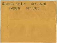 Nobrega family : Inquest [not used]