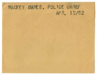 Mackey James. Police chief.