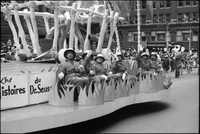 Dr. Seuss float in the Santa Claus Parade.
