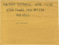 McLuhan Marshall : With Rowan and Martin [not used]